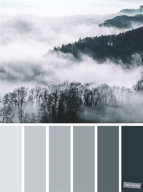 is the color gray or grey smokey grey color palette shades of grey color combination