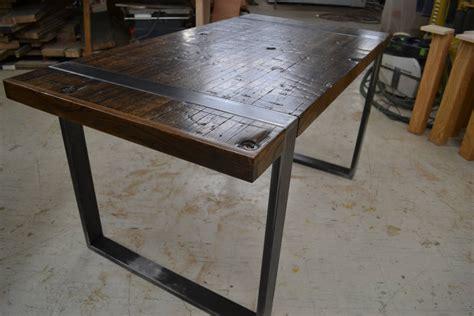 Desk With No Legs by Desk Reclaimed Boxcar Oak Exposed Steel Legs By
