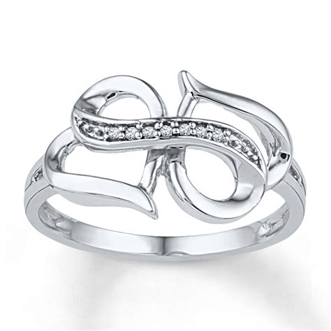 white gold infinity ring jared infinity ring accents 10k white gold