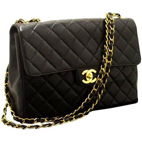 Chanel Shoulder Pouch Bag by Chanel 11 Quot Jumbo Chain Shoulder Bag Crossbody Black