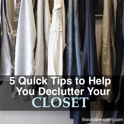 Tips For Decluttering Your Closet by 5 Tips To Help You Declutter Your Closet The Order