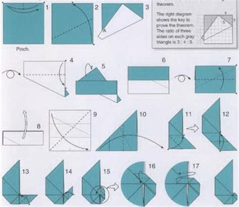 Origami In Mathematics - wheel of theodorus origami origami used a