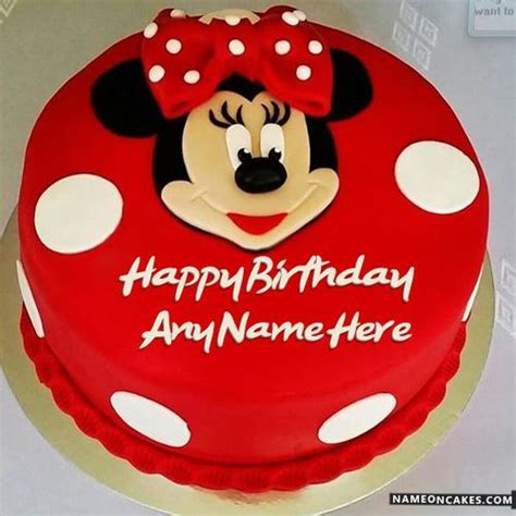 Mickey Mouse Birthday Cakes For Kids With Name