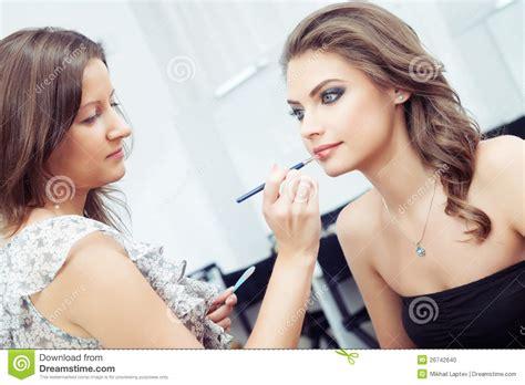 Make Up Artist Jakarta make up artist applying make up royalty free stock image