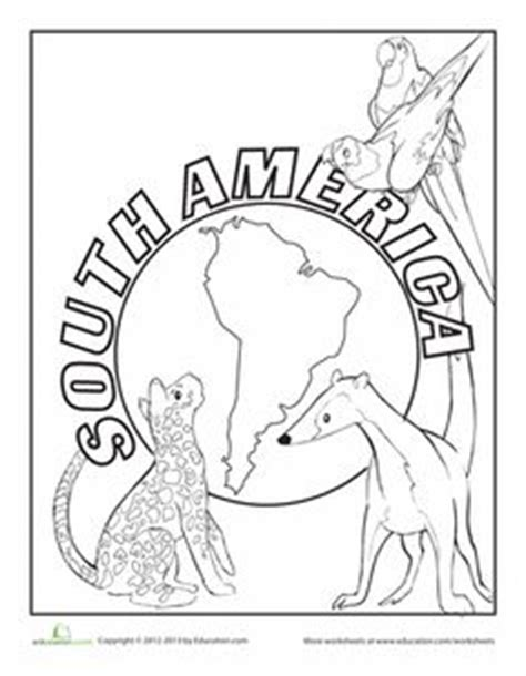 south american animals pages coloring pages