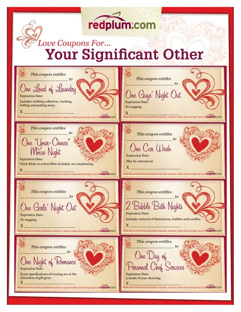 good christmas ideas for your significant other coupon template printable coupons for your significant other redplum