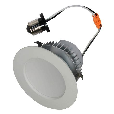 led retrofit kits for recessed lighting lighting 02398 ep4 e26 40 wh led recessed can