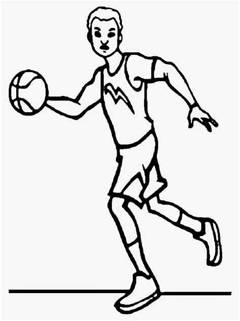 free printable coloring pages of nba players basketball players free coloring pages