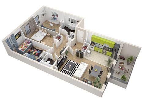 combien de chambre dans un t3 plan appartement 75m2