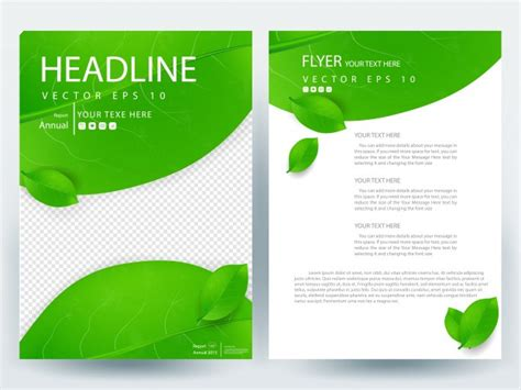 nature brochure template vector premium download a4 brochure layout template with green leaf vector