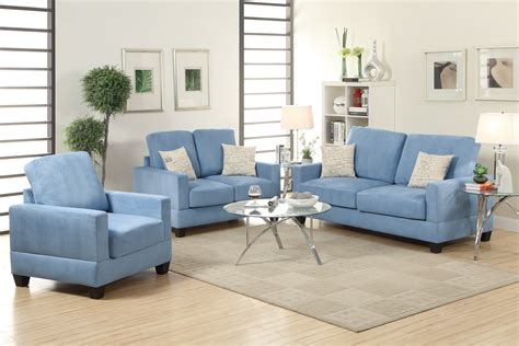 rebel blue wood sofa loveseat and chair set a sofa