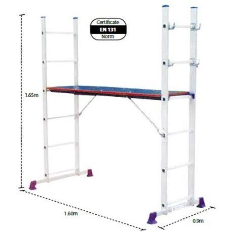 krisbow kw0103032 1 3032 3way aluminum scalfolding ladder