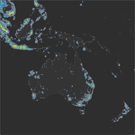 map lights detailed map of light pollution around the