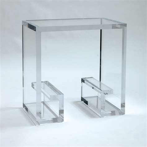 Acrylic Side Table Allan Knightacrylic End And Occasional Tables Key Side Table