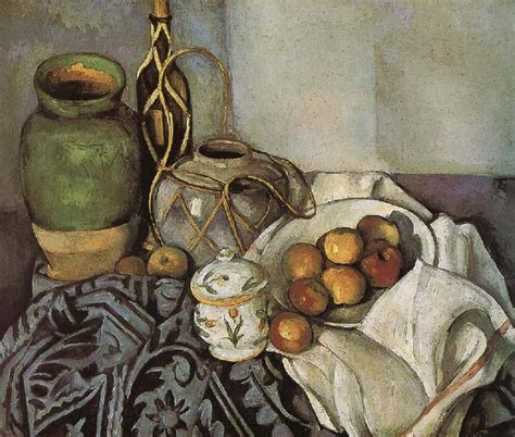 cezanne masters of art bottle of still life of fruit paul cezanne malmo sweden oil painting reproductions 60968