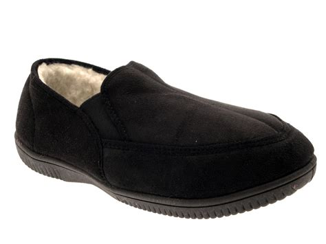 mens fur lined moccasin slippers mens slippers moccasins mules faux suede fur lined faux