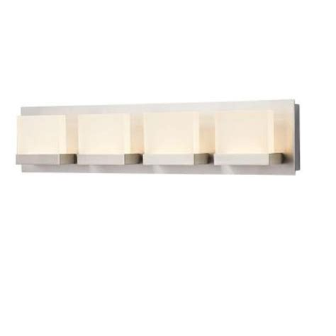 Bathroom Light Bar Home Decorators Collection Alberson Collection 4 Light Brushed Nickel Led Bath Bar Light 28025