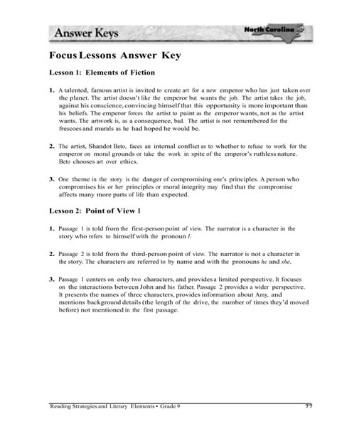 themes in literature answer key flashback worksheet the best and most comprehensive