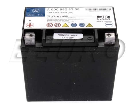 mercedes auxiliary battery 0009829608 genuine mercedes auxiliary battery sbc