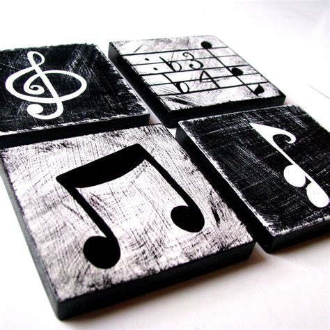 Music Wall Decor by Music Inspired Black And White Wall Art By Whimsicalartblocks