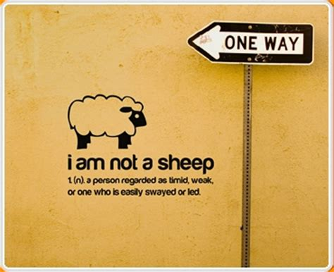 Quotation Wall Stickers i am not a sheep quote wall sticker