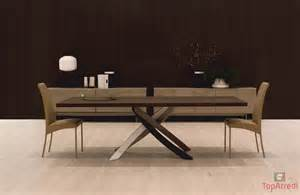Modern Wood Dining Room Tables tavolo moderno fisso artistico
