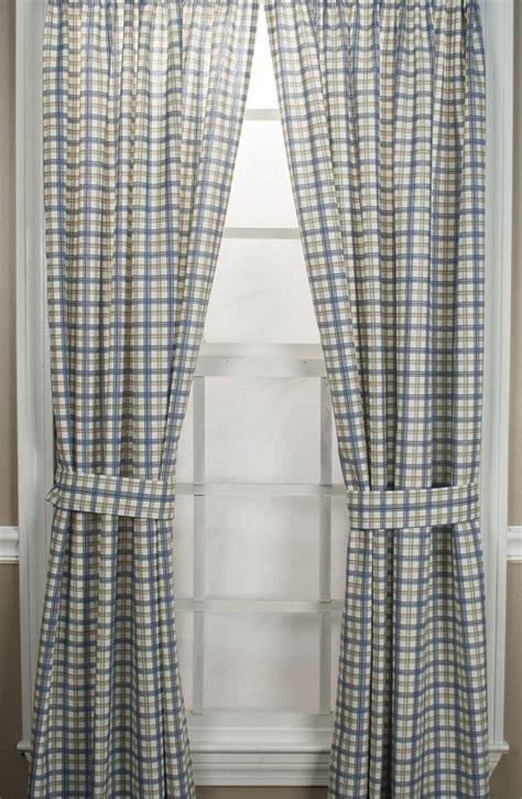 bristol curtains custom pinch pleat bristol plaid curtain panel