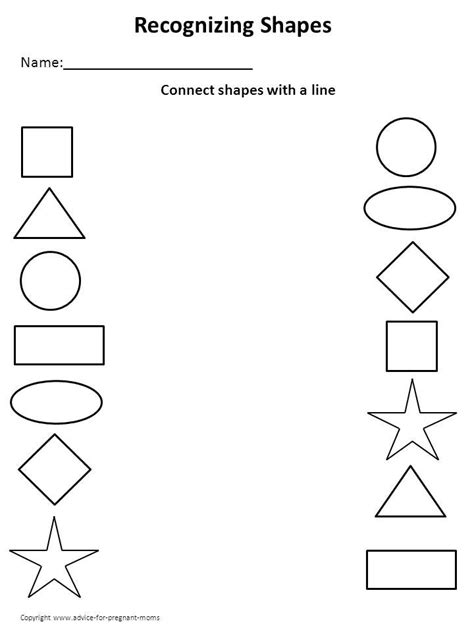 printable shapes for 3 year olds printable kindergarten worksheets worksheets for