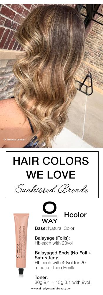 bronde hair color formulas oway hair color formulas simply organic beauty