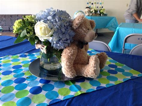 Baby Shower Teddy Decorations by Centerpieces Teddy Bears And Bow Tie Baby Shower Theme