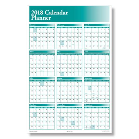 yearly calendar planner 2018 yearly calendar planner for the workplace