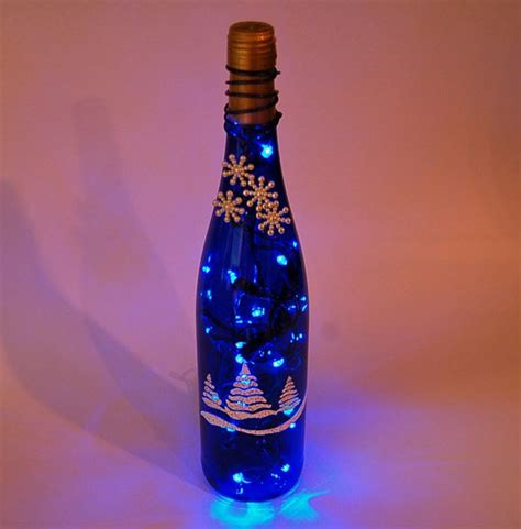 26 recycled wine bottle christmas light luminaries