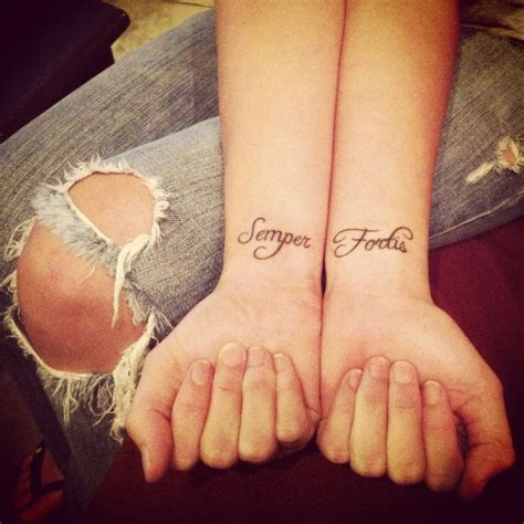semper fortis tattoo my tattoos quot semper fortis quot always courageous ink
