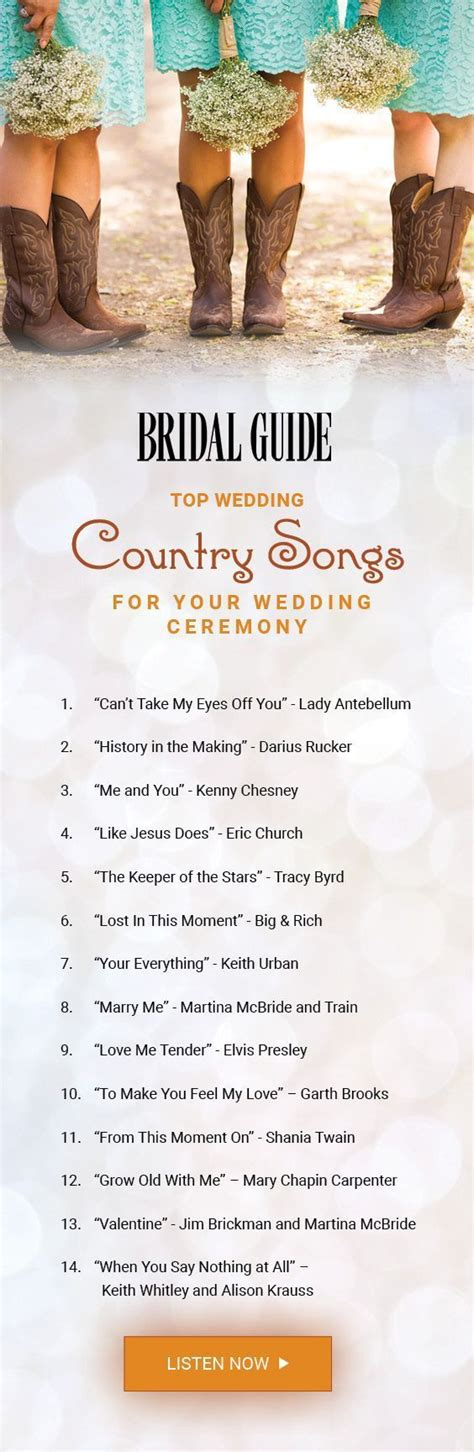 Wedding Song Country by Best 25 Country Wedding Ideas On
