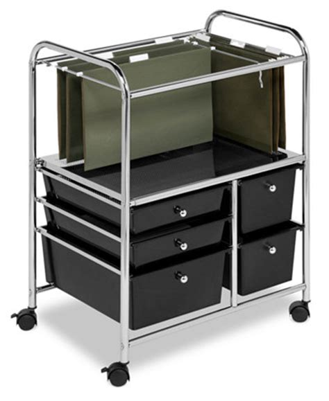 5 Drawer Organizer Cart Honey Can Do Hanging File Storage Cart 5 Drawer