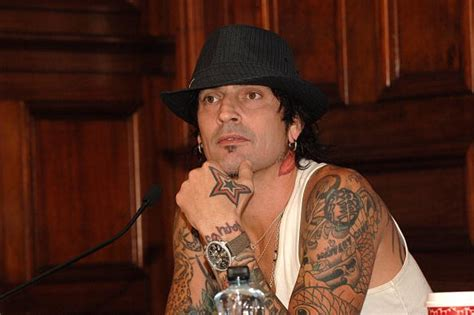 tommy lee tattoos turns 50 his in mayte