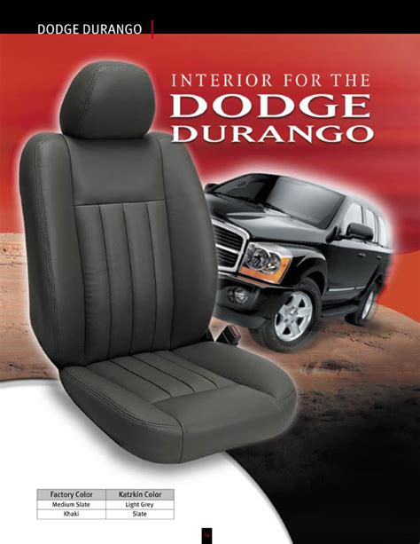 2008 durango seat covers dodge durango se katzkin leather seat upholstery 2008