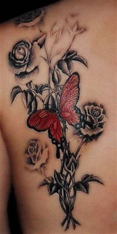 black and red roses tattoos black and white images designs