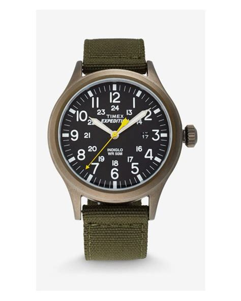 Expedition E6737 Gold N Black express timex expedition scout in green for lyst