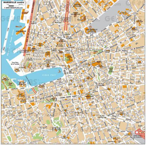 marseille carte  image satellite