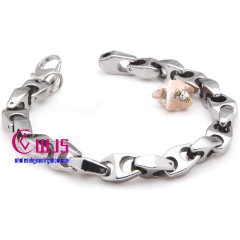 peculiar shape link tungsten steel bracelet wholesale