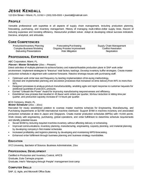 Master Resume Template by Material Manager Resume Exles Resume Ideas