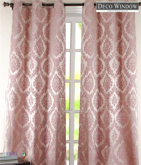 dusty rose curtains deco window dusty rose floral print window curtain buy