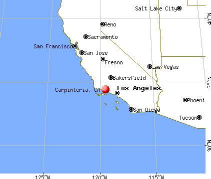 carpinteria california map carpinteria california ca 93013 profile population