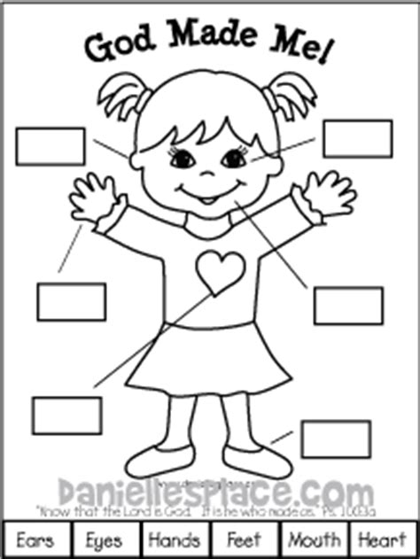 printable coloring pages god made me special god made me bible lesson 7