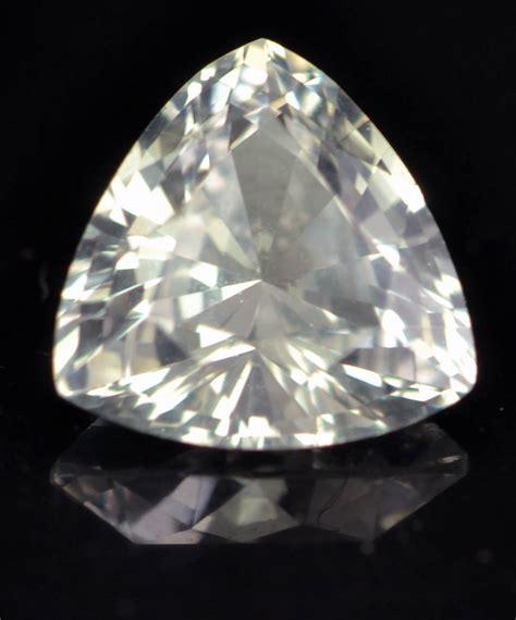 ceylon white sapphire trilliant 7mm 1 3 cts simply