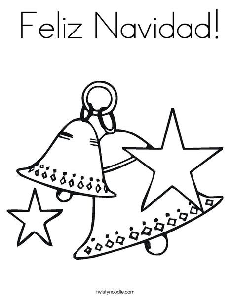 coloring pages for christmas in spanish feliz navidad coloring page twisty noodle