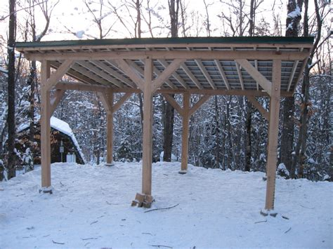 projects post and beam carport shed boat storage dec