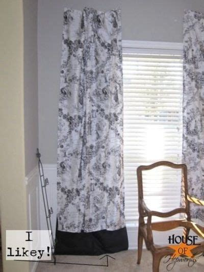 curtains too short how to lengthen too short curtains for the home juxtapost