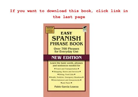 easy spanish phrase book pdf easy spanish phrase book new edition over 700 phrases